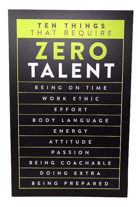 Cartel motivador de oficina con caballete de apoyo ...