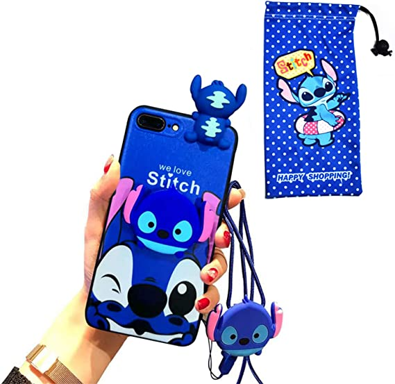 Amazon Com Vanvene Iphone 8 Plus 7 Plus Stitch Case 5 5 For Kids Girls Cute 3d Cartoon Fun Animal Character Case Cover For Apple Iphone 7 Plus Iphone 8 Plus With Holder Lanyard Doll