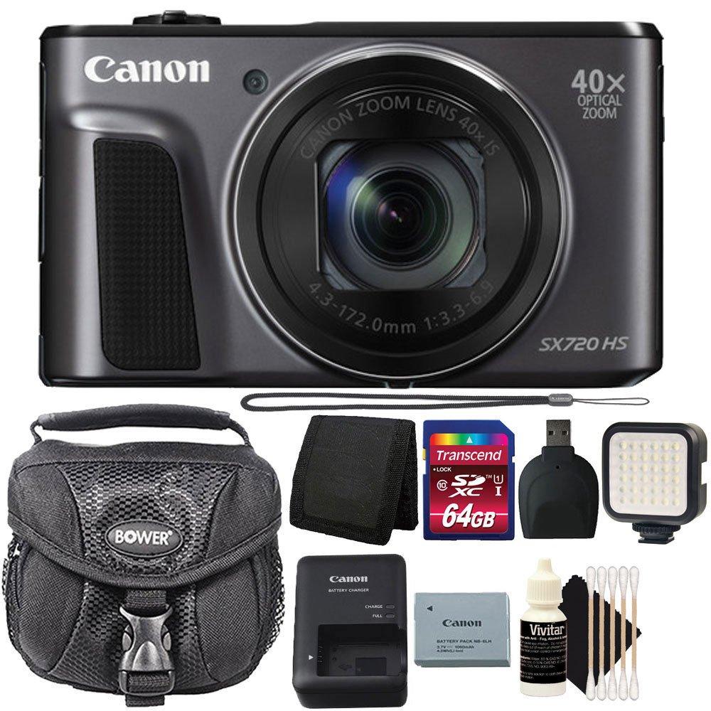Canon PowerShot sx720 HS 20.3 MP 40 x光学ズームDIGIC 6プロセッサーWiFi / nfc有効デジタルカメラブラックwith 64 GB Accessoryバンドル   B06Y186DJK