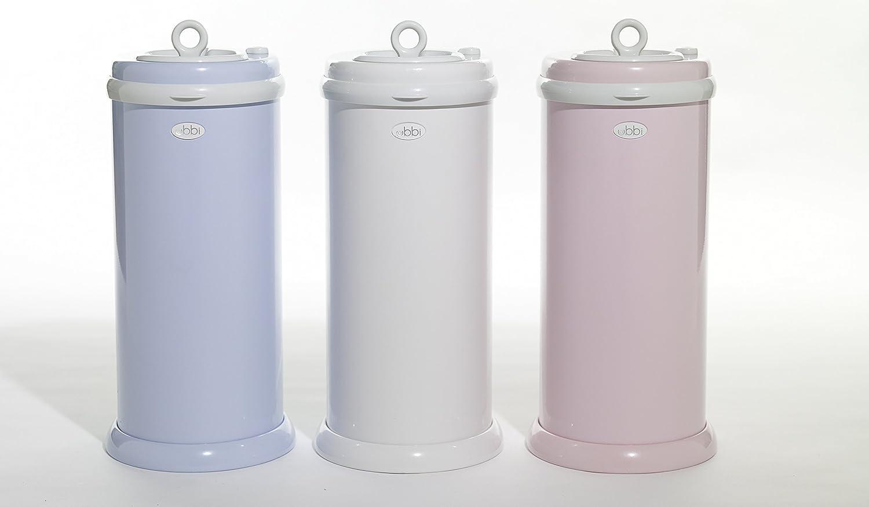 Ubbi Steel Odor Locking No Special Bag Required Money Saving Awards-Winning Navy Modern Design Registry Must-Have Diaper Pail