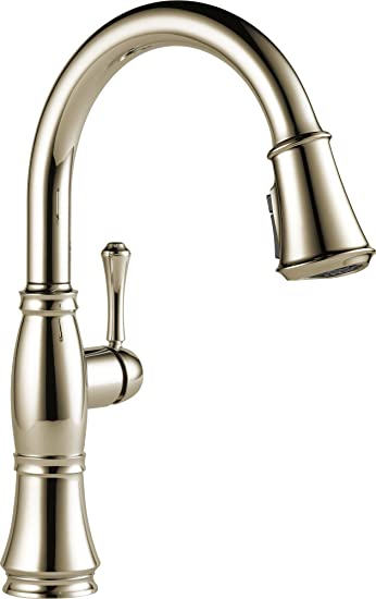 Delta Faucet Cassidy Single Handle Kitchen Sink Faucet With Pull