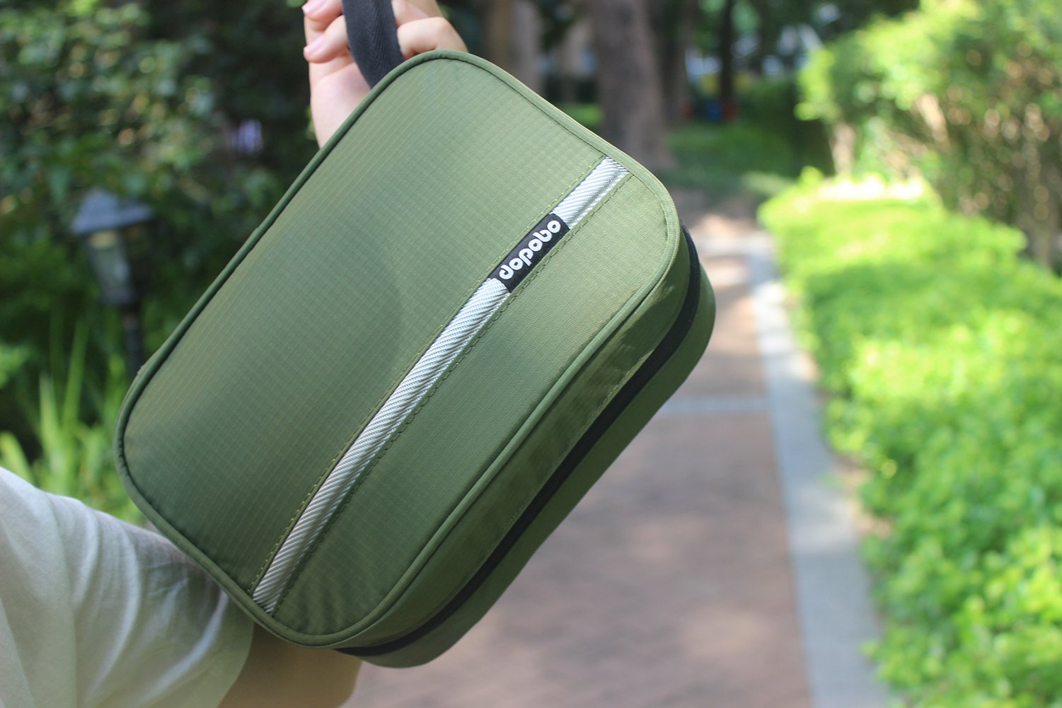 Dopobo Travelling Toiletry Bag Portable Hanging Water-Resistant Wash Bag for Travelling, Business Trip, Camping (army green) by Dopobo (Image #7)