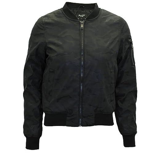 Para mujer Brave Soul Hayworth, Camo camuflaje MA1Bomber chaqueta acolchada