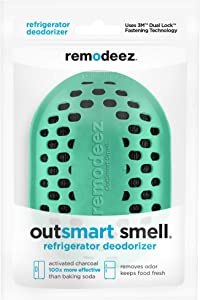 remodeez Refrigerator Deodorizer. Natural Coconut Activated Charcoal. Odor Eliminator, Odor Absorber
