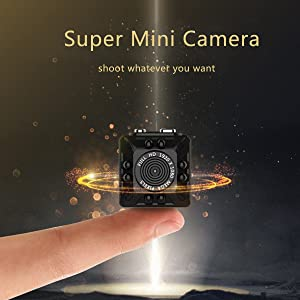 Portable Mini Hidden Spy Camera, KAMRE 1080P/720P Small Body Cam with Night Vision and Motion Detection, Perfect Indoor Security Camera and Outdoor Activities