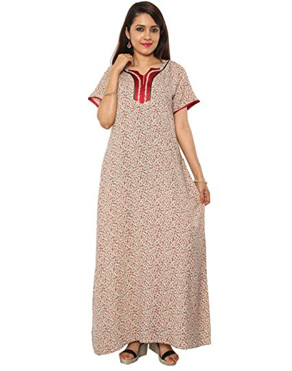 2e3afe5d54 Nighty House Womens Alpine Fancy Nightgown  Amazon.in  Clothing    Accessories