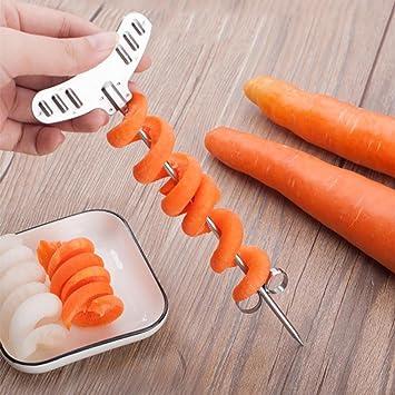 Rettichschneider 2 x Spiralschneider Gemüse Rettiche Obst  Deko  Spirale Twister