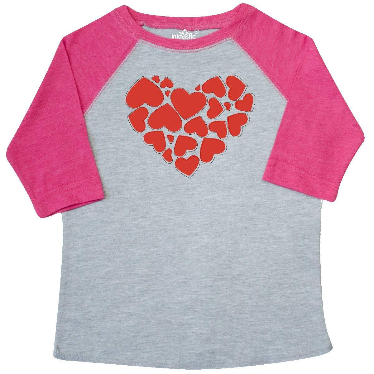 Romance inktastic Love Valentine Red Toddler T-Shirt Hearts