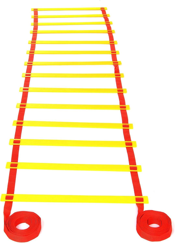 5M / 8M Escalera de Agilidad Velocidad para Futbolista Entrenamiento Fútbol (8m 14 escalones): Amazon.es: Deportes y aire libre