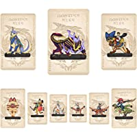 9 PCS Monster Hunter Rise NFC Mini Cards Resentment Dragon, Ailucat, Gark palico, palamute, and magnmalo, Compatible…