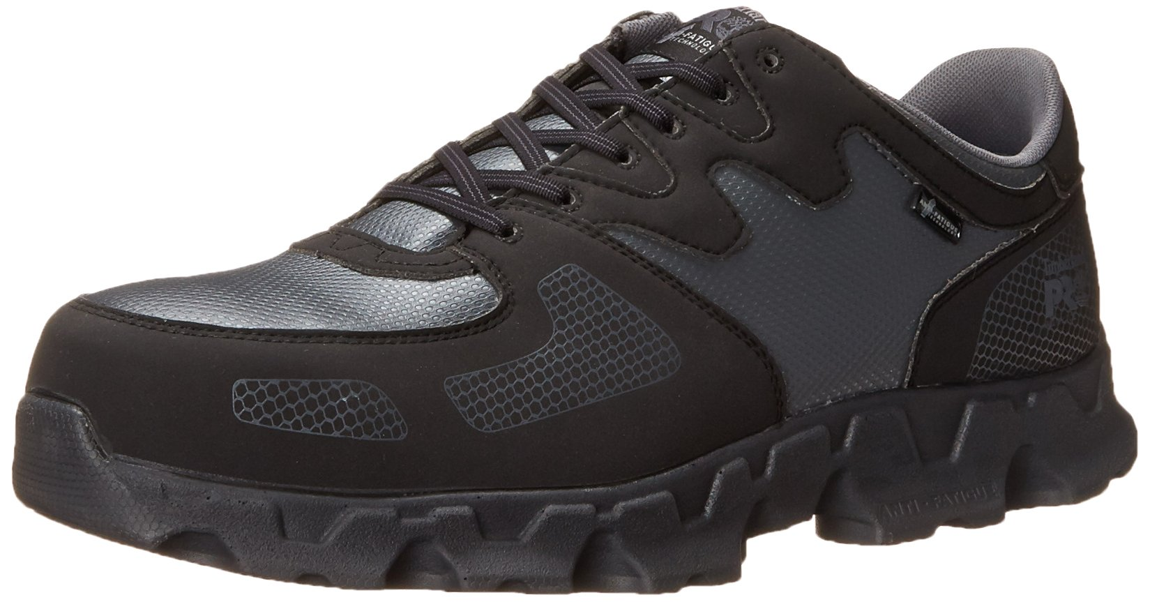 Timberland PRO Men's Powertrain ESD Alloy Toe Work and Hunt Boot, Grey Synthetic, 10.5 W US