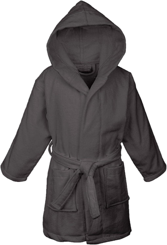 BC BARE COTTON Boys Microfiber Fleece Hooded Robe