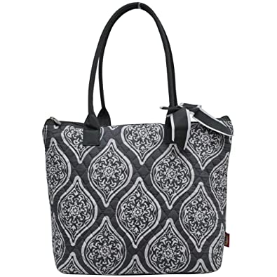 5643bd2a0048 Ngil Quilted Cotton Medium Tote Bag 2018 Spring Collection (Marquise in  Bloom Grey)