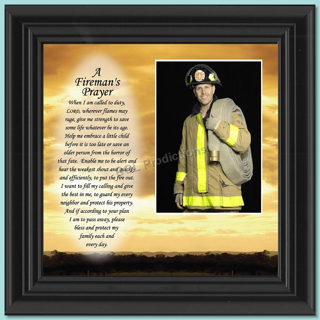 Fireman's Prayer, Personalized Picture Frame