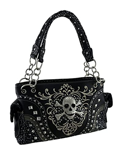 Image result for Rhinestone skull studded concealed carry purse
