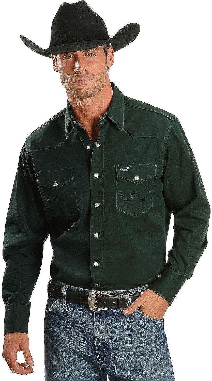 Wrangler MS70519 Camisa para Hombre, Roca, XX-Large Tall