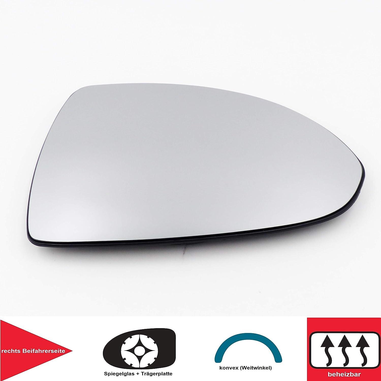 Qsparts 5229 Spiegelglas Heizbar Rechts Beifahrerseite Konvex Corsa D Auto