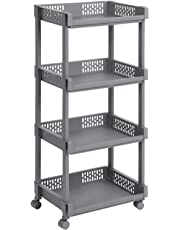 SONGMICS Rolling Trolley Storage Unit for Kitchen Bathroom Cellar