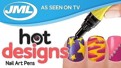 Hot Designs - Pack de 6 pintauñas de colores: Amazon.es: Belleza