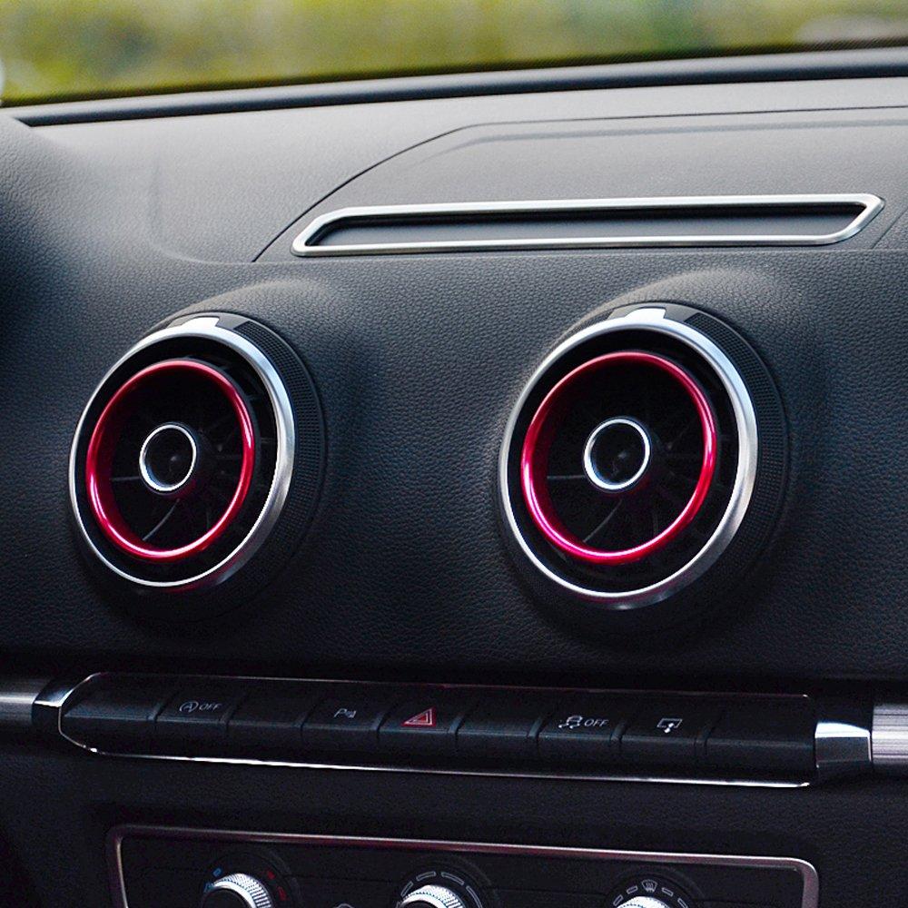 Aluminium Alloy Ring For Dashboard Air Vent Surround Decoration Sticker WOQUi