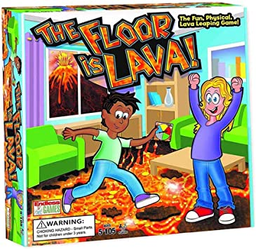 QXue The Floor Is Lava Innovative Volcano Childrens Rotating Card Game Card Family Board Game Support 2-6 People Simultaneously Play: Amazon.es: Deportes y aire libre