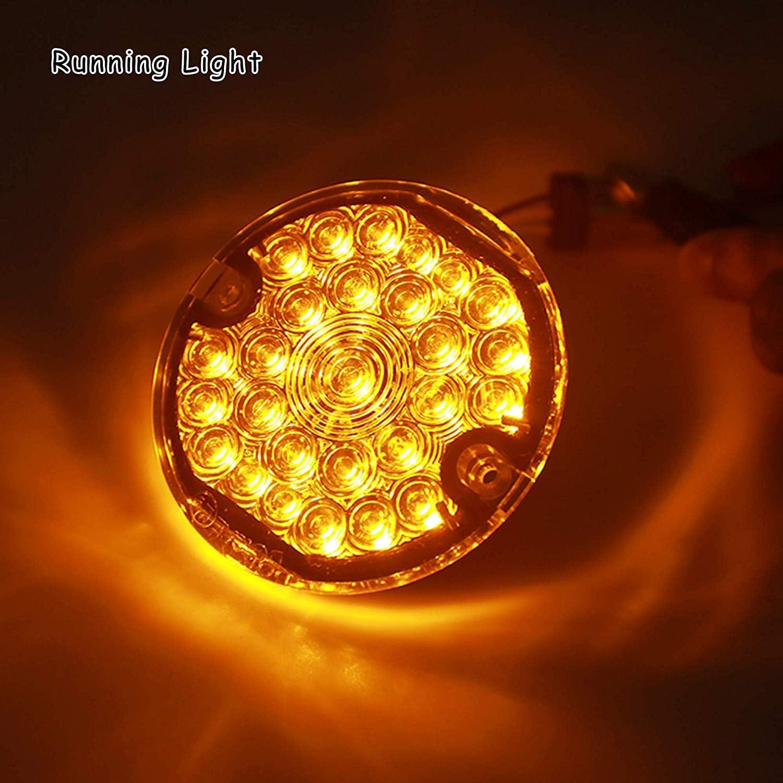 Bullet LED clignotants feux de position 1157 inserts LED ambre blanc pour Harley
