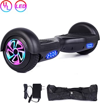 Amazon.com: EPCTEK Hoverboard con ruedas y luces coloridas ...