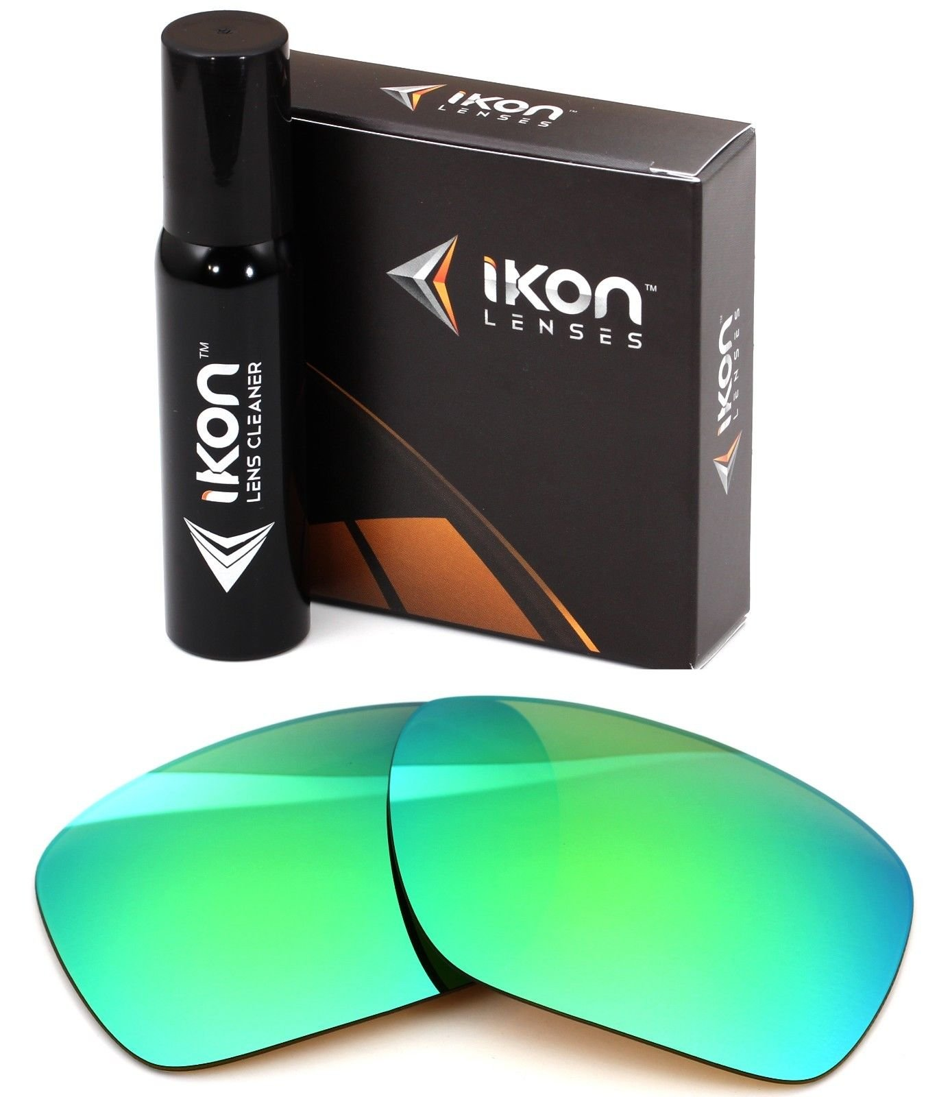 Polarized Ikon Iridium Replacement Lenses For Costa Del Mar Blackfin Sunglasses - Emerald Green Mirror by Ikon Lenses