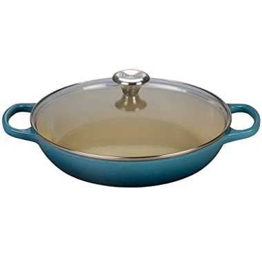 Le Creuset of America Enameled Cast Iron Buffet Casserole with Glass Lid, 3 1/2 quart, Marine