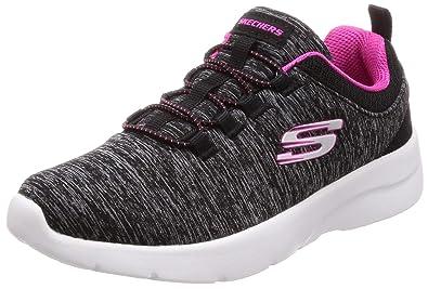 575eb3d89b3 Skechers Women s Dynamight 2.0 - in A Flash Black Hot Pink 5 ...
