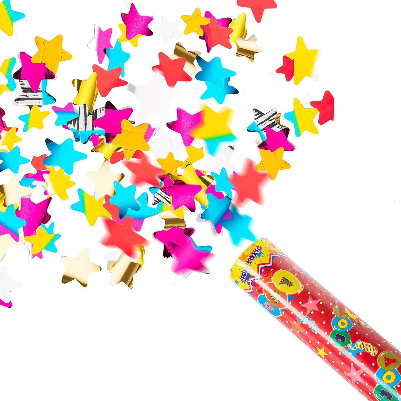 Goods /& Gadgets Konfetti-Kanone Konfetti-Shooter Party Popper Konfettikanone XXL 100 cm Bunt