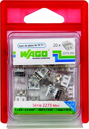 15 unidades, 3 entradas Juego de bornes Wago WAG2273//203BL15