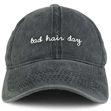 4803f5a4d04 Trendy Apparel Shop Bad Hair Day Embroidered Unstructured Washed Cotton  Baseball Dad Cap - Black