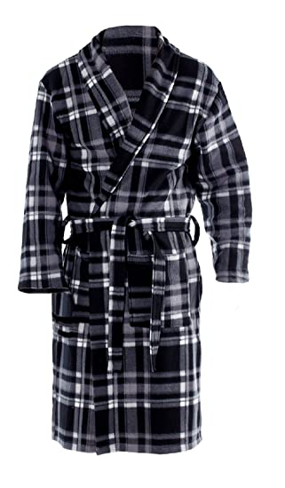 Octave® Mens Polar Fleece Winter Robe Dressing Gown Supersoft 5cbdca6da