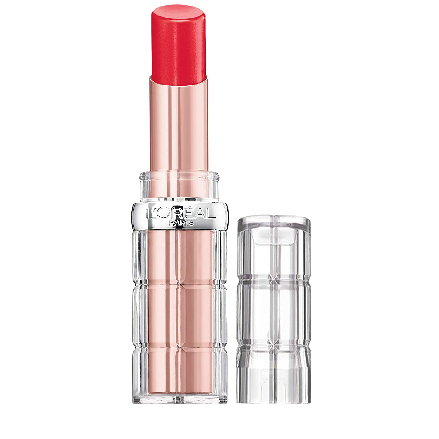 L'Oreal Paris Makeup Colour Riche Plump & Shine Lipstick, for Glossy, Radiant, Visibly Fuller Lips with an All-Day Moisturized Feel, Watermelon Plump, 0.1 oz.