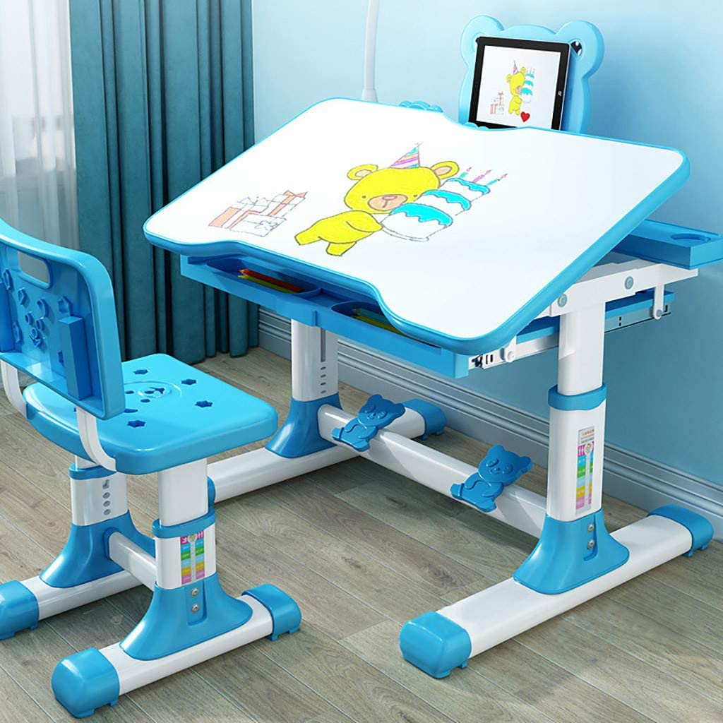 Kids Desk and Chair Writing Computer Desk Modern Simple Study Desk Cute Style Laptop Table for Home Office Notebook Desk