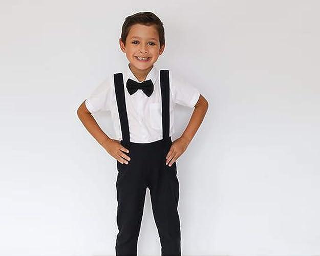 30f20ffd595 Amazon.com  Boy Suspender Pants - Black