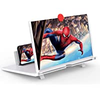 Screen Magnifier -12 Inches 3D HD Cell Phone Magnifying Projector Screen Accessories for Videos, Movies, and Games…