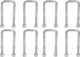 8 U-tornillo gemelas de ballestas parabólicas para Ifor Williams remolques AB Tools