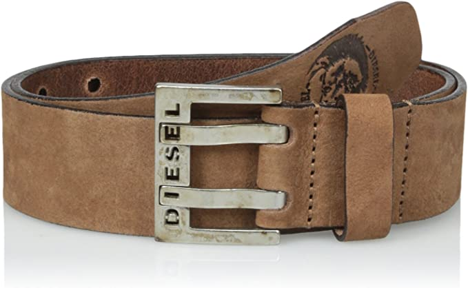 Diesel Jeans BIT II Leather Belt Cowhide Buckle  Brown Silver Black Worldwide