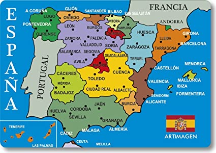 Mappa Spagna Oviedo.Artimagen Magnete Mappa Citta Spagna Blu 80 X 55 Mm Amazon It Casa E Cucina