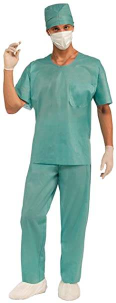 Forum Novelties Men's E.R. Doctor Costume, Green, One Size