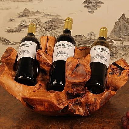 El vino rojo de madera del regalo de la manera creativa exhibe el gabinete de vino