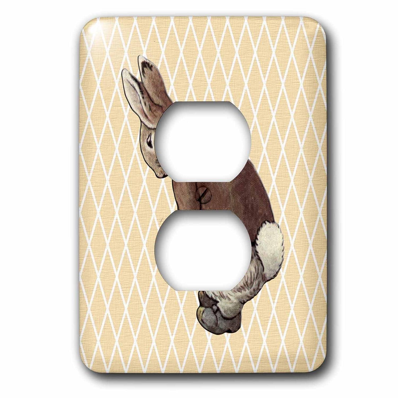 3dRose lsp/_79403/_6 Vintage Peter Rabbit Art Plug Outlet Cover