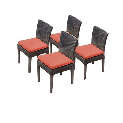Amazon.com : TK Classics Napa 4 Piece Armless Dining Chairs ...