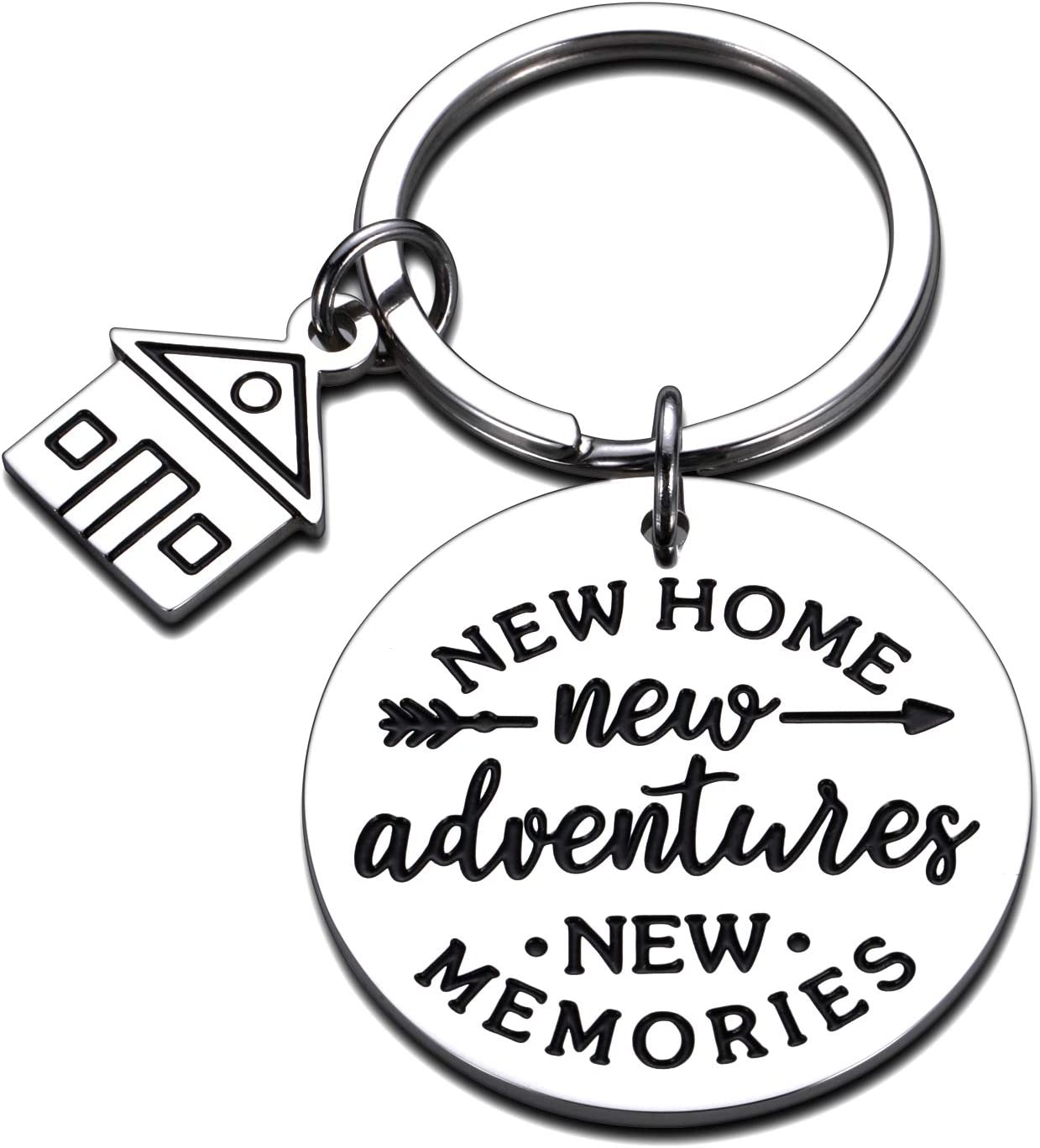 New Home Keychains Gifts for Home Apartment Housewarming Gifts House Warming Presents for Homeowner Women Men New Home New Adventures New Memories Moving Away Jewelry Real Estate Agent Realtor Gift