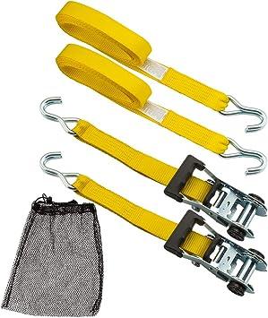 "12 Pack 1.5/"" inch x 15/' Ft Ratchet Straps J Hook Tie Down Cargo"
