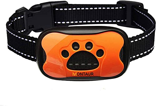 MONTAUR No Bark Collar for Small, Medium, Large Dogs – Upgrade Stop Barking Collar for Dogs with Vibration and Sound – Humane and Safe Anti Bark Collar for Dogs – 100 Waterproof Bark Collar