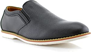 Ferro Aldo Elite MFA19613 Mens Casual Perforated Derby Slip on Loafer Shoes