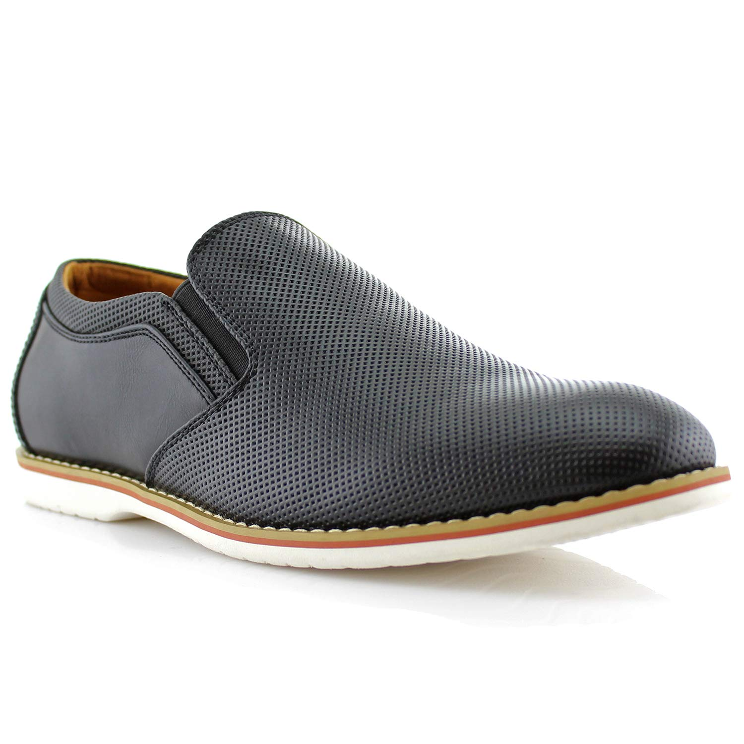 5d4cda5a3a6 Amazon.com | Ferro Aldo Elite MFA19613 Mens Casual Perforated Derby Slip on  Loafer Shoes | Loafers & Slip-Ons